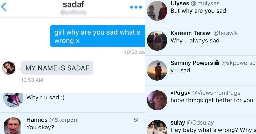 People online can't stop making the same joke to this teen named Sadaf and she's fed up AF bzfd.it/2ekKQ8A
