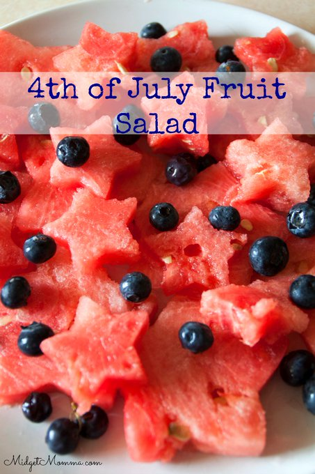 Blueberries and Watermelon Stars fruit salad