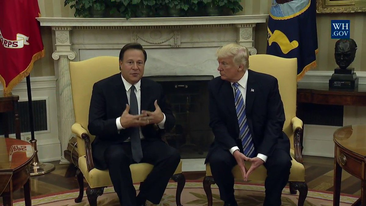 President Donald Trump And Melania Trump Meet with President Varela Of Panama 6/20/2017 https://t.co/b43sLLHTnd 🇺🇸 #MakeAmericaGreatAgain