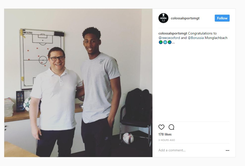 Reece Oxford appears to have completed his move to Borussia Mönchengla...