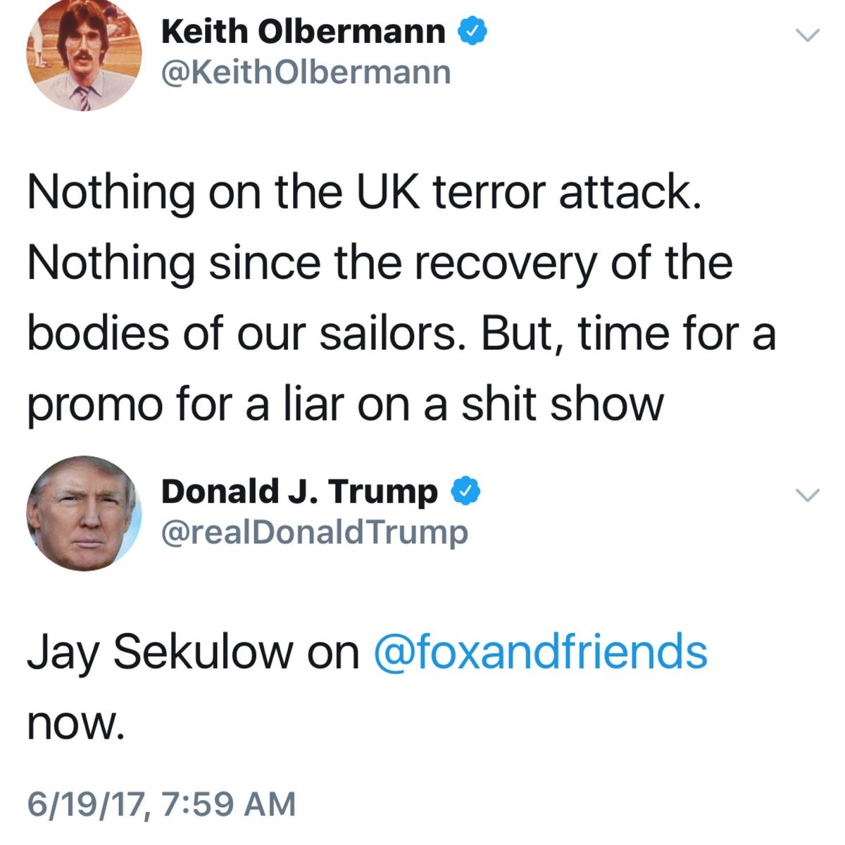 So @realDonaldTrump deleted his promo tweet for his ambulance-chaser-Nathan-Thurm-spokesman's hit on State-Run TV? Why?