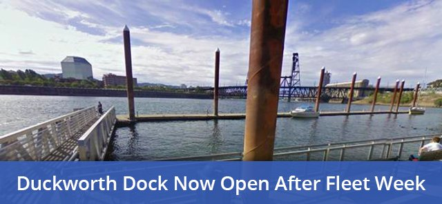 High of 86 degrees today? Good thing the Duckworth Dock is open!  https://www. portlandoregon.gov/transportation /article/639594 &nbsp; …   #pdxtst #pdxtraffic #pdxbikes #pdxnow<br>http://pic.twitter.com/HTjSR3ytWZ