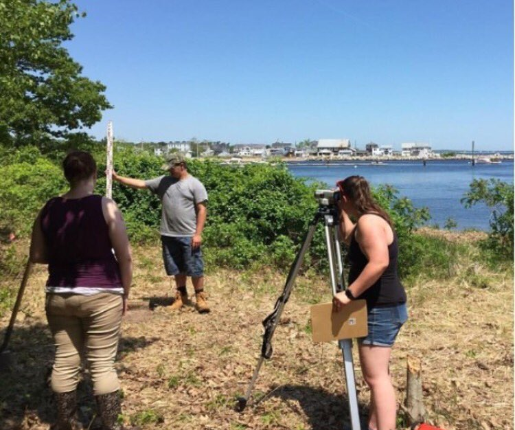 Just keep digging, just keep digging...students are doing an archaeological summer dig right here on campus on the Saco River! #UNE <br>http://pic.twitter.com/ukWzN6va3Q