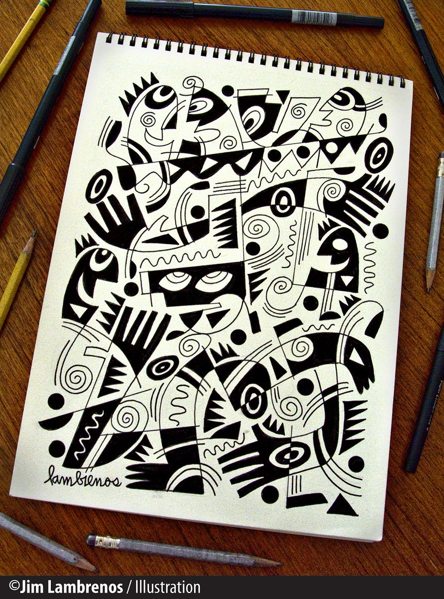 &quot;Paris Jazz&quot;- #Graphic concept #sketch - In this series always reaching for the &quot;High Notes.&quot; #Jazz #Drawing<br>http://pic.twitter.com/pxQz9URjqf