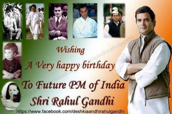 WISH YOU A HAPPY BIRTHDAY WISHES RESPECTED SHRI.RAHUL GANDHI JI. OUR INCOMING PRIME MINISTER OF INDIA. COVAI BALAJI.