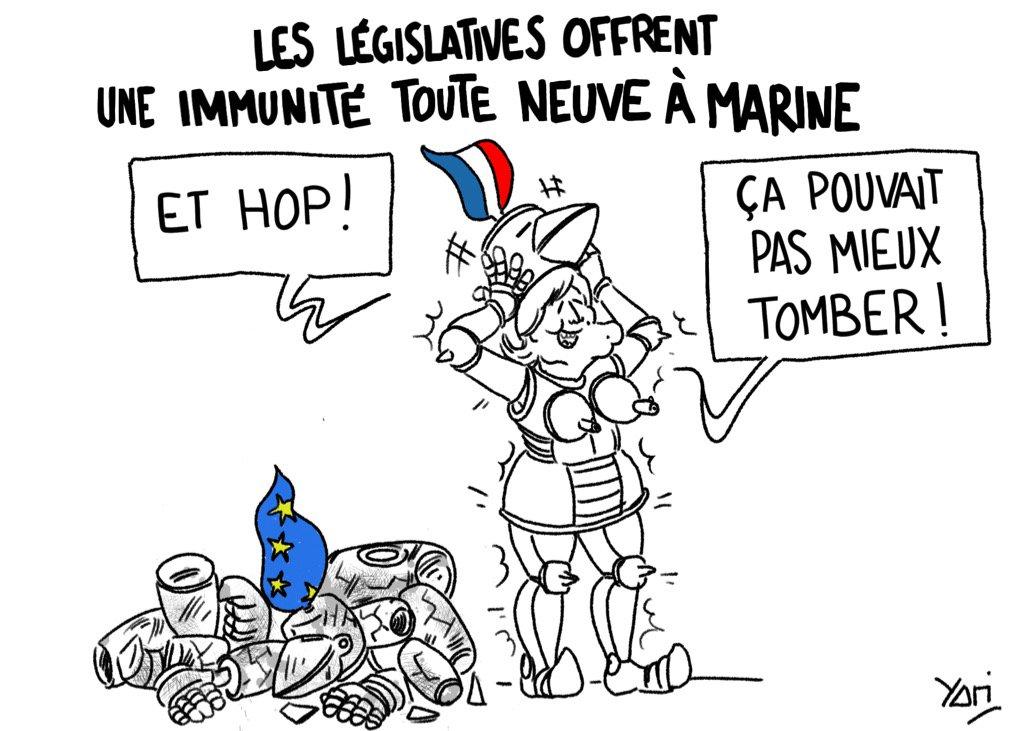 #intouchable  Source :  http:// tinyurl.com/yclcqowx  &nbsp;   #MarineLePen #legislatives2017 #immunite #dessindepresse #FN <br>http://pic.twitter.com/XkH0C1nsww