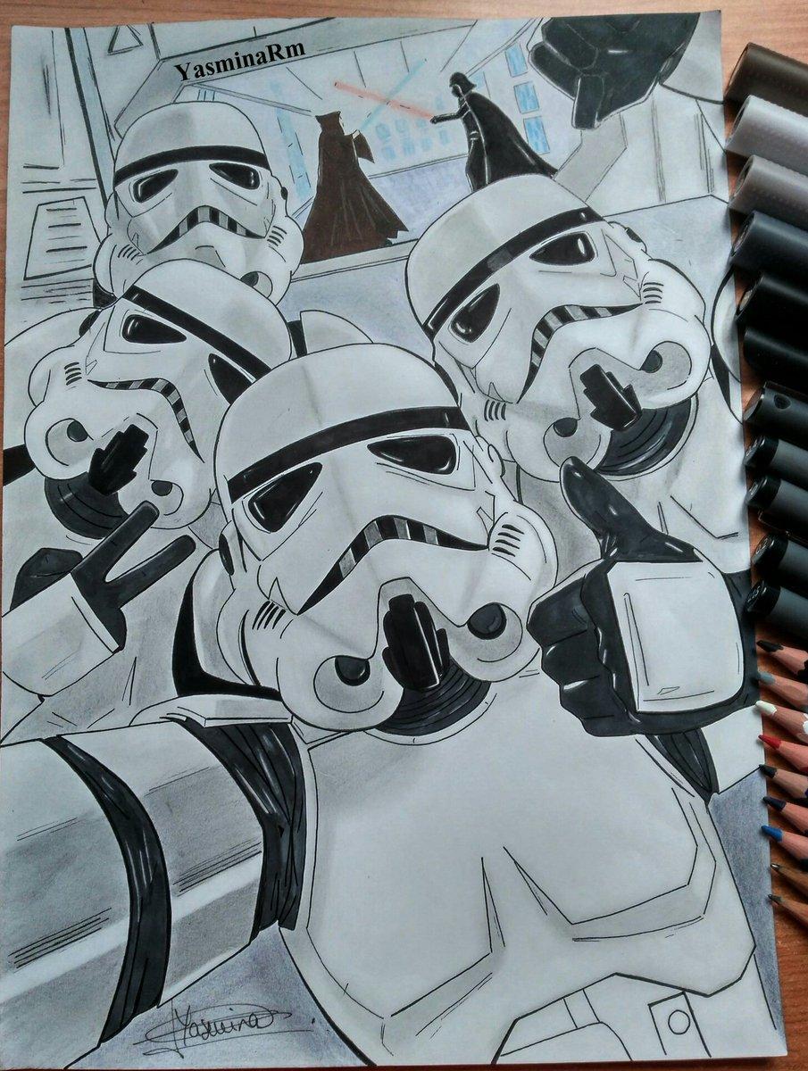 Stormtrooper selfie ~ por fin!  #drawing #draw #StarWars #StarWarsBattlefrontII #art #stormtrooper #StarWarsバトルフロントII<br>http://pic.twitter.com/zgv1e90YAx
