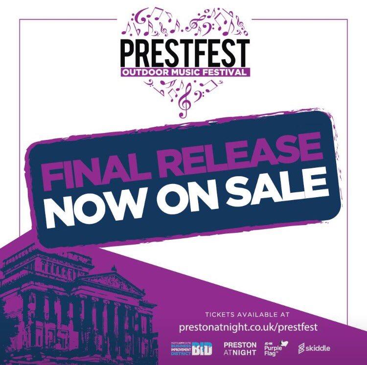 Last chance saloon for @PrestFest tickets: final release! #PrestonHour...