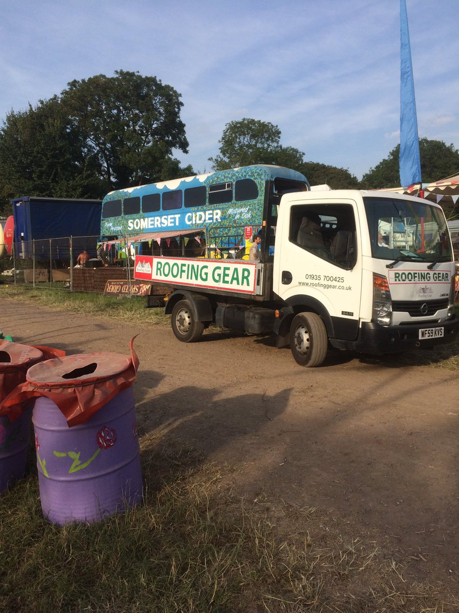 If only every delivery had a cider bus outside #glasto17 <br>http://pic.twitter.com/VPKIYR89kJ