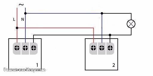 Схема подключения диммером