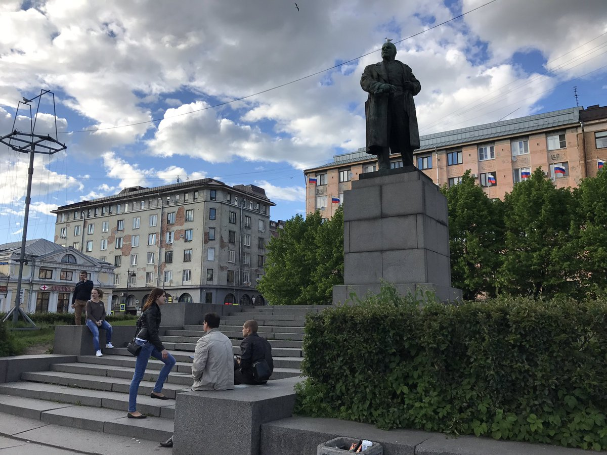 Lenin checks to make sure where his wallet is. He laid low here (Vyborg, then Russian Finland) in immediate lead-up to October Revolution.