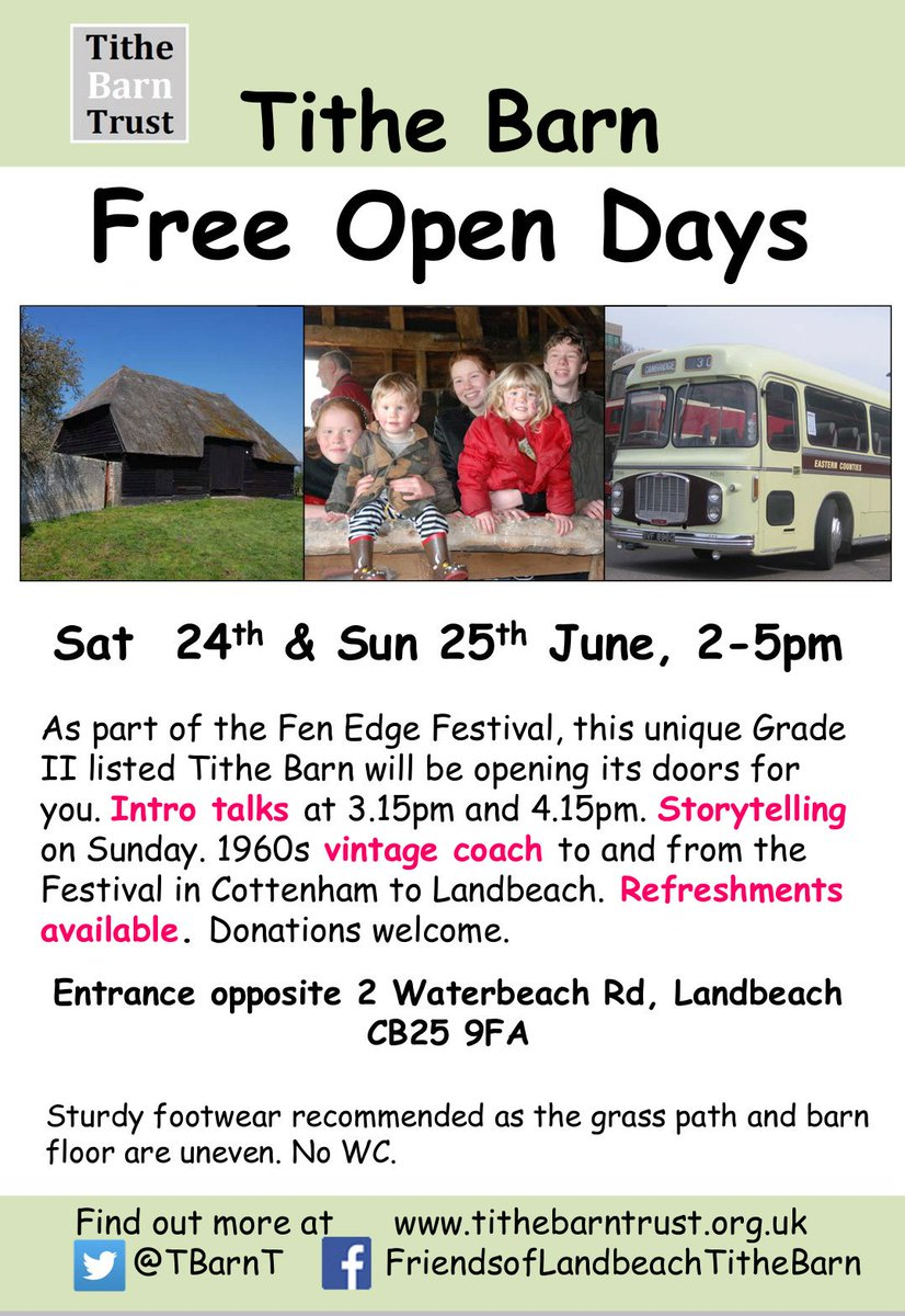 Hi @StuartLock of interest to #cvc students? @TBarnT has open days this weekend with vintage bus shuttling between #cottenham &amp; #landbeach<br>http://pic.twitter.com/0Jfvn6pIoh