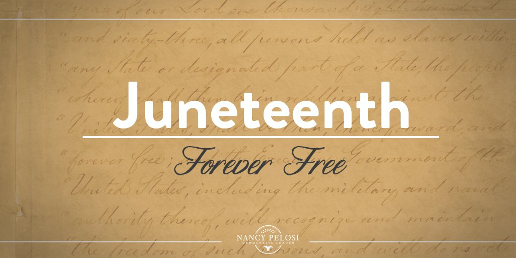 Today, we reflect on how far we've come – & the work that's left to be done in the search for equality. #Juneteenth
