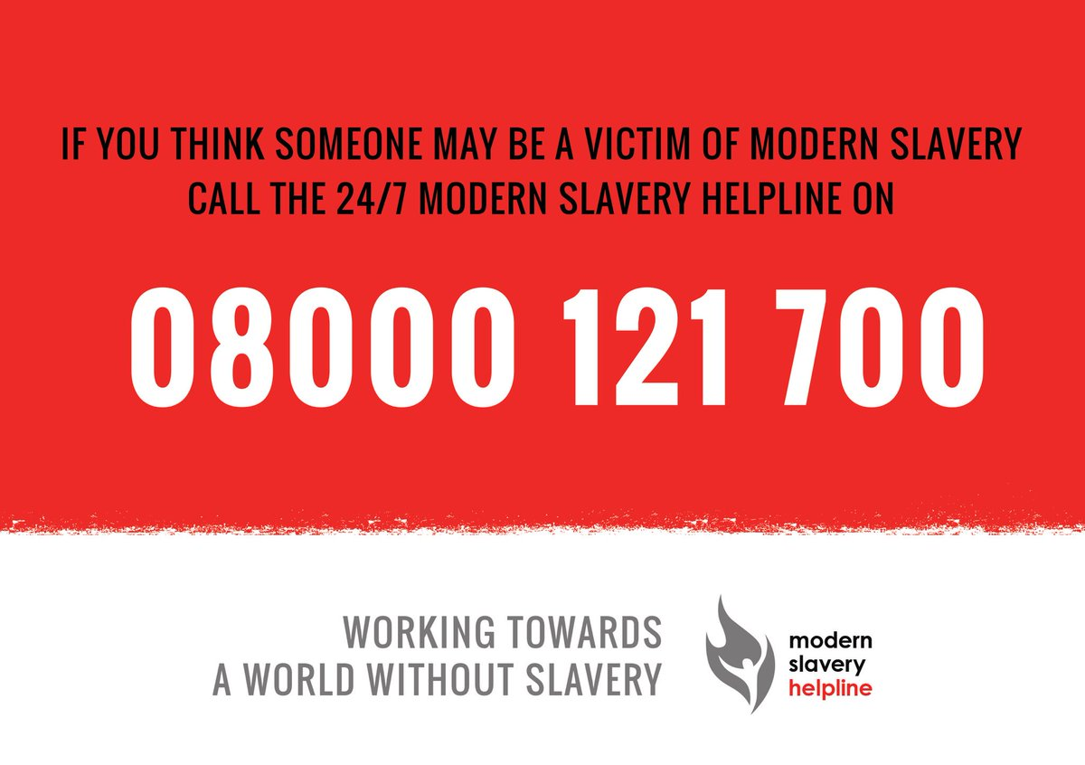 If you suspect someone may be a victim of modern slavery, help is avai...