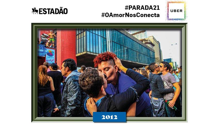 @mariaclara_prad Olá! Essa é uma das fotos históricas dentre as 20 edições da Parada do Orgulho LGBT SP #paradasp