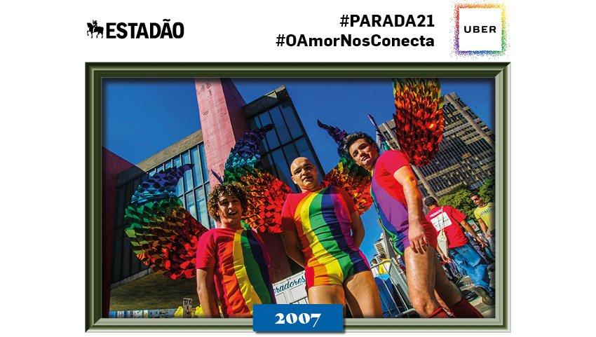 @Luccas_Arauj01  Parabéns! Você está comemorando a 21ª Parada LGBT SP através de nossas fotos históricas #paradasp