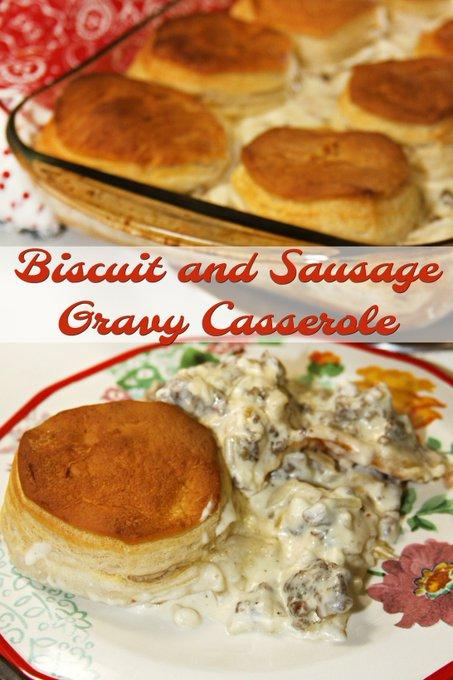 Biscuit and Sausage Gravy Casserole