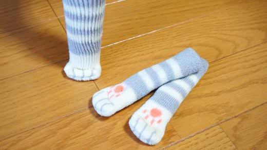おうちのイスがぽってり猫足に…!「ねこあしチェアソックス」がかわいすぎる   @enuchijpより かわい〜〜〜〜