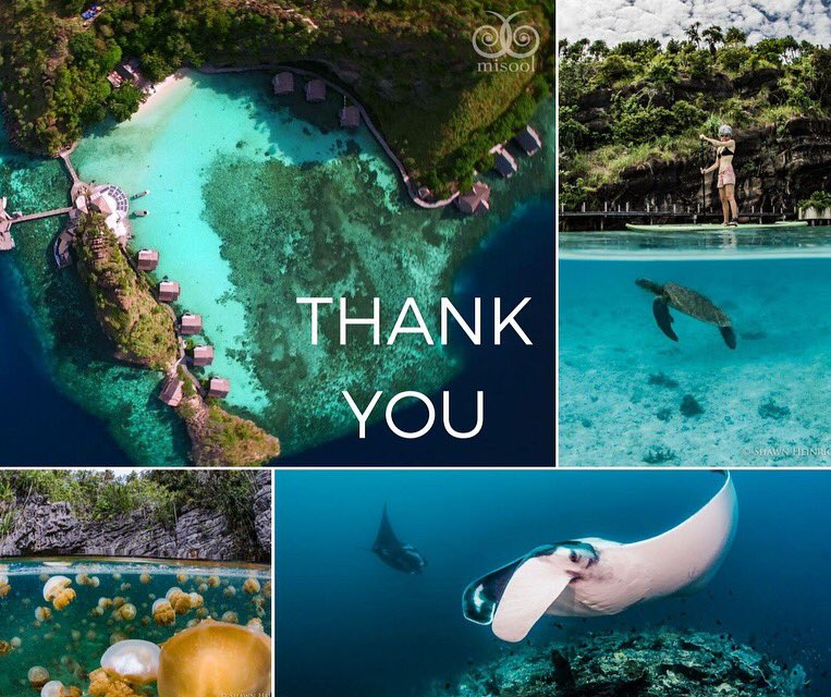 Incredible 9th season at @misoolecoresort! Thank u to everyone who has supported #Misool - new friends, old friends, family & ocean lovers. pic.twitter.com/QnwqyPn29N