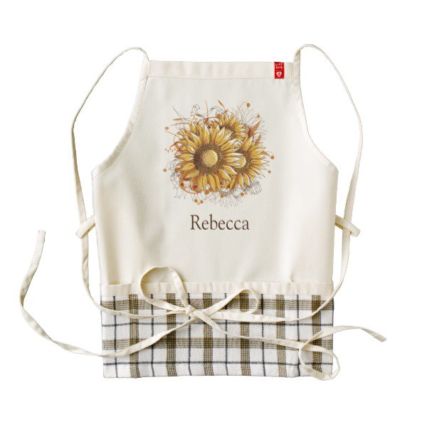Personalized Pretty #Sunflowers Apron  http://www. mgdezigns.com/gifts/personal ized_vintage_pretty_sunflowers_zazzle_heart_apron_zazzle_heartapron-256578031694429093.html &nbsp; …  #smallbiz #Mompreneur #gifts #giftideas #zazzle<br>http://pic.twitter.com/o5gkiaGmjw
