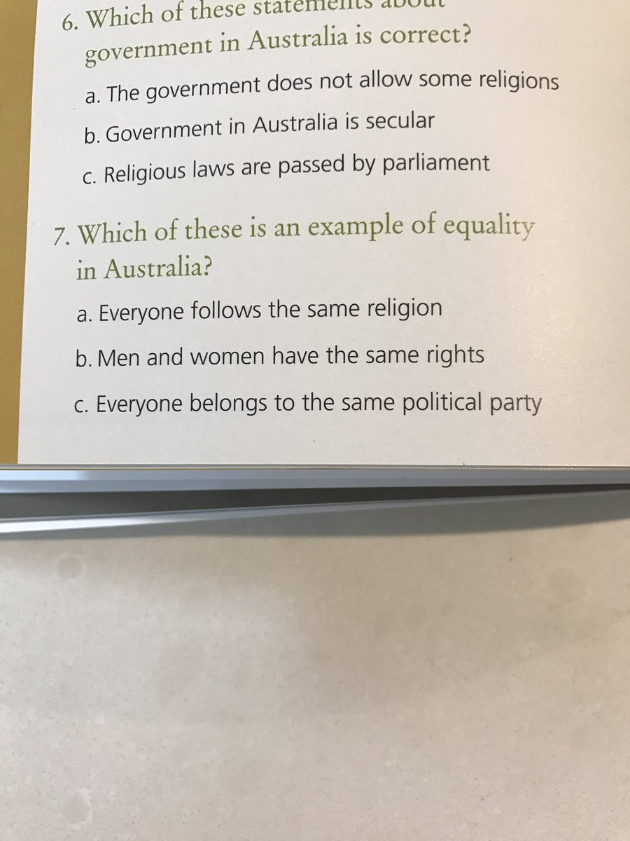Here's the citizenship question (no 7) I was referring to on @QandA Um, is there a correct answer on that list? https://t.co/psMu204I3j