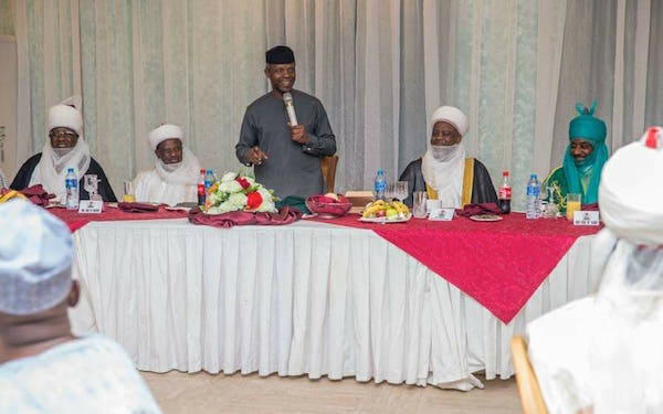 Osinbajo gives an overall view, so far, of his ongoing consultations over ethnic agitations and exchanges between groups in the North and South-East