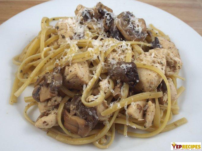 Chicken & Mushroom Linguine