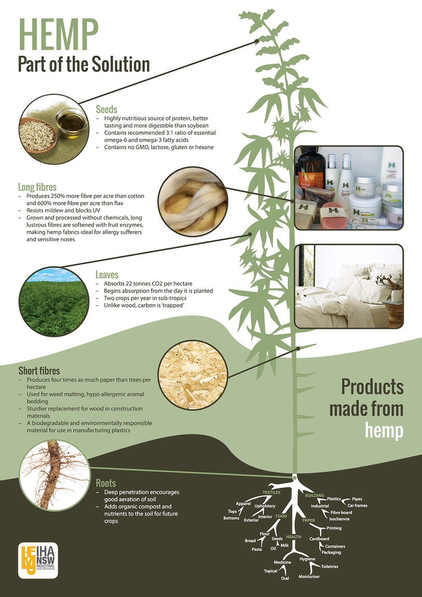 #HEMP Part of the Solution. #Ethical #Sustainable #EcoFriendly #Healthy #Superfood @DublinHempCo <br>http://pic.twitter.com/qotU1mxzX9
