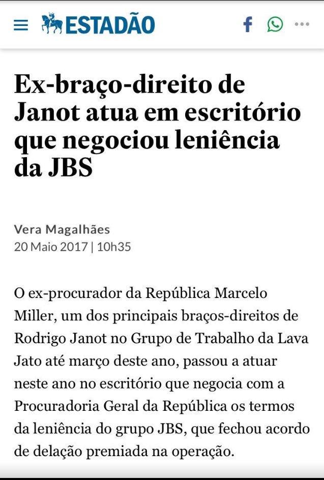 Tá explicado o porquê do acordo de impunidade entre a Procuradoria Geral da República e o Sr. Wesley 'Safadão' Batista. Pode isso, Janot?!