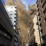 東陽町 東陽図書館裏の工事現場?で爆発が起きて火事になったみたい pic.twitter.com/K…