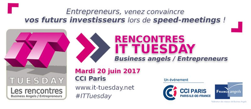 RDV ce soir à la @CCI_75 pour les speed-meetings #ITtuesday ! https://t.co/830qGGSeTn