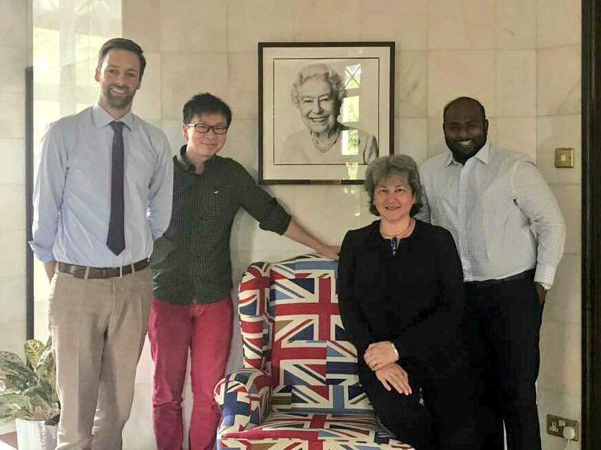 Good to catch up with @kishva on all things @Official_CYC &amp; #youthengagement &amp; meet YongJoeKit @TheLiteralKing with TomSoper @UKinMalaysia<br>http://pic.twitter.com/zFS57xOmmU