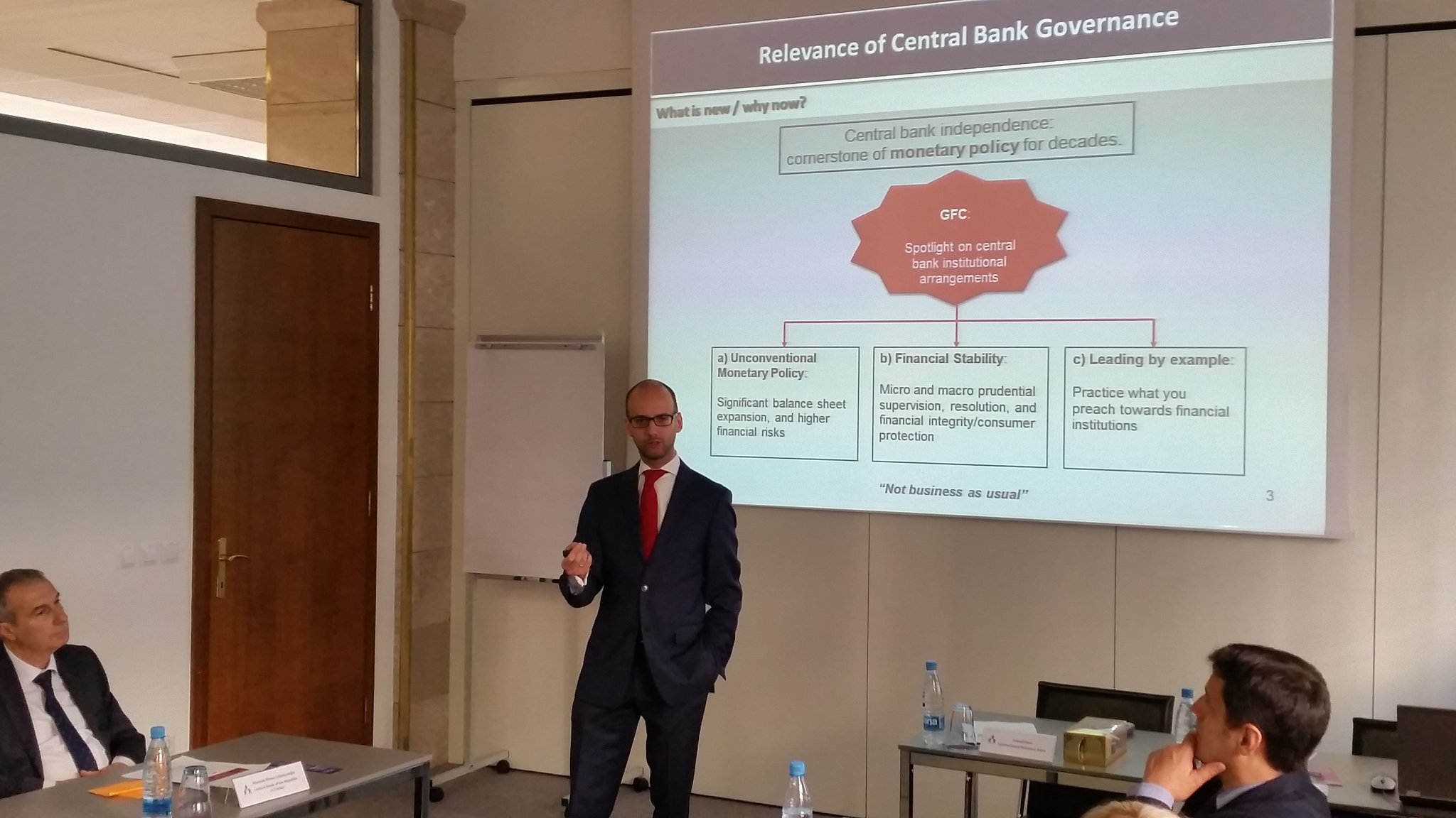 Starting the day with key pillars of effective #CBgovernance by Ashraf Khan, @imfcapdev #CEFlearning https://t.co/ErK9rSoLbJ