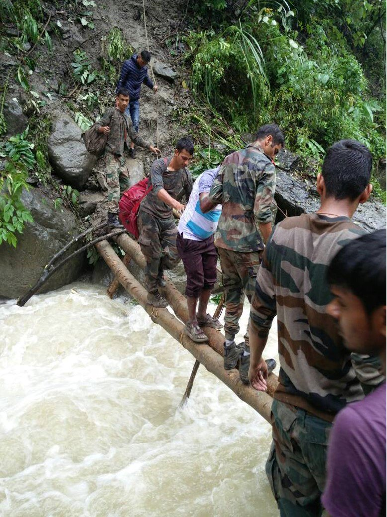 Indian Army rescued 200 people stranded due to a landslide near Bhalukpong in Arunachal Pradesh