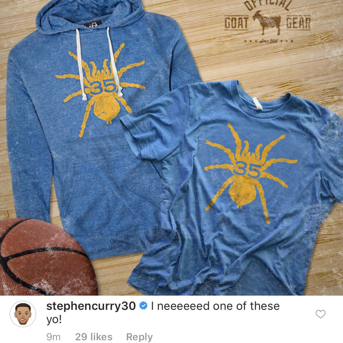 Get the vintage @KDTrey5 #DURANTULA tee that @StephenCurry30 himself is talking about!   Available NOW:  https:// rmcapparel.com/products/duran tula-35-vintage-tee-shirt &nbsp; …    #RMC  <br>http://pic.twitter.com/glZEjjQo3J