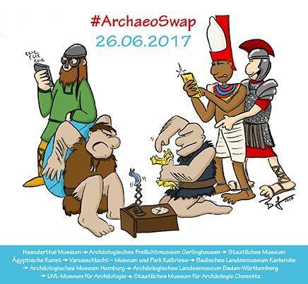 Am 26.06. übernehmen wir das Social-Media-Steuer der Kollegen, und die übernehmen unseres. 9 Archäologiemuseen sind dabei. 🏛👉📱#ArchaeoSwap https://t.co/uhNzx4u2xT