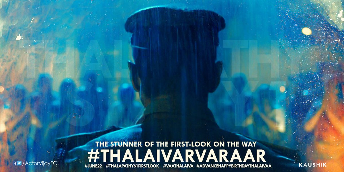 #He is Going To Break All the Records  THALAPATHY61 FL FROM 2MRW 6PM <br>http://pic.twitter.com/lEihhlHsJS