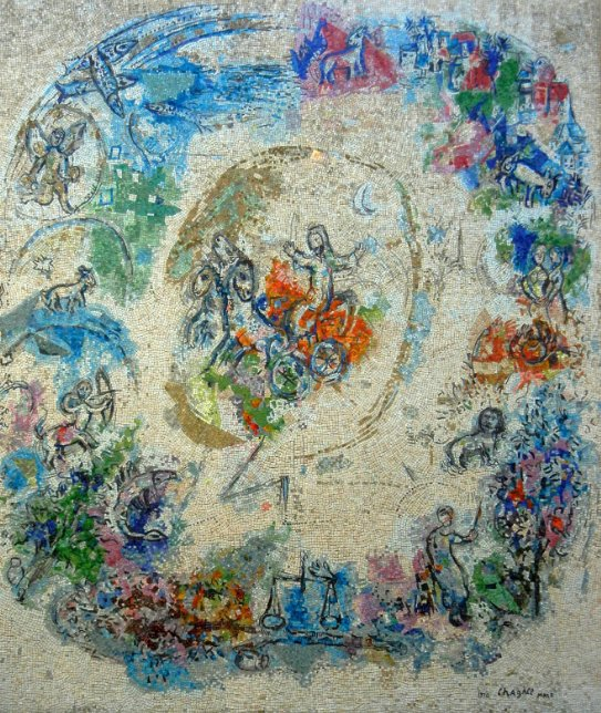 Elijah and his stylish vehicular departure, by Marc #Chagall. At @MuseeChagall #Nice, France. <br>http://pic.twitter.com/kGl0NDUQOi