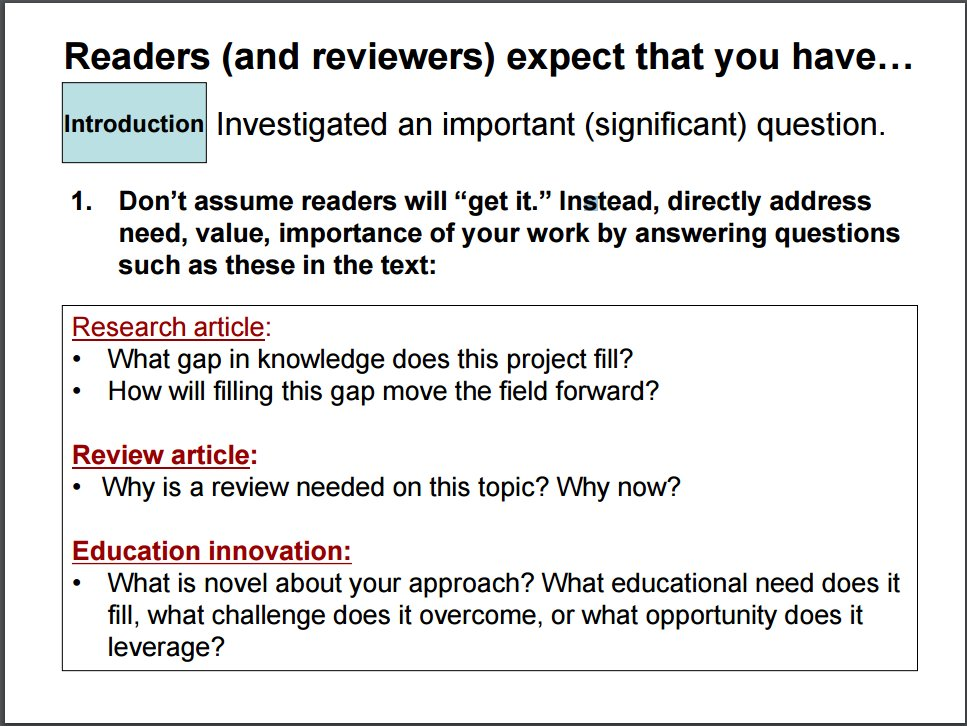 #Scicomm Tips: How to communicate the importance of your research and write the main sections of a paper.  http:// bit.ly/2rMWR8P  &nbsp;  <br>http://pic.twitter.com/fn8J8x9rV5