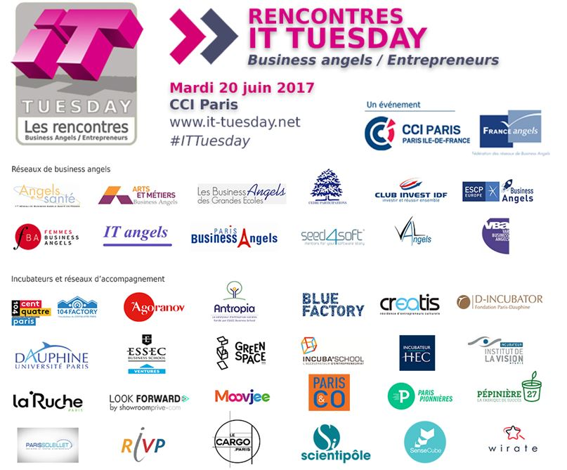 Ce soir 👉🏻 #ITTuesday 🚀📢 Près de 150 #startups et #businessangels réunis à la @CCI_75  #financement #pitch https://t.co/MnhwZWbQLn  #MDN2017 https://t.co/2Q1jaHWNVc