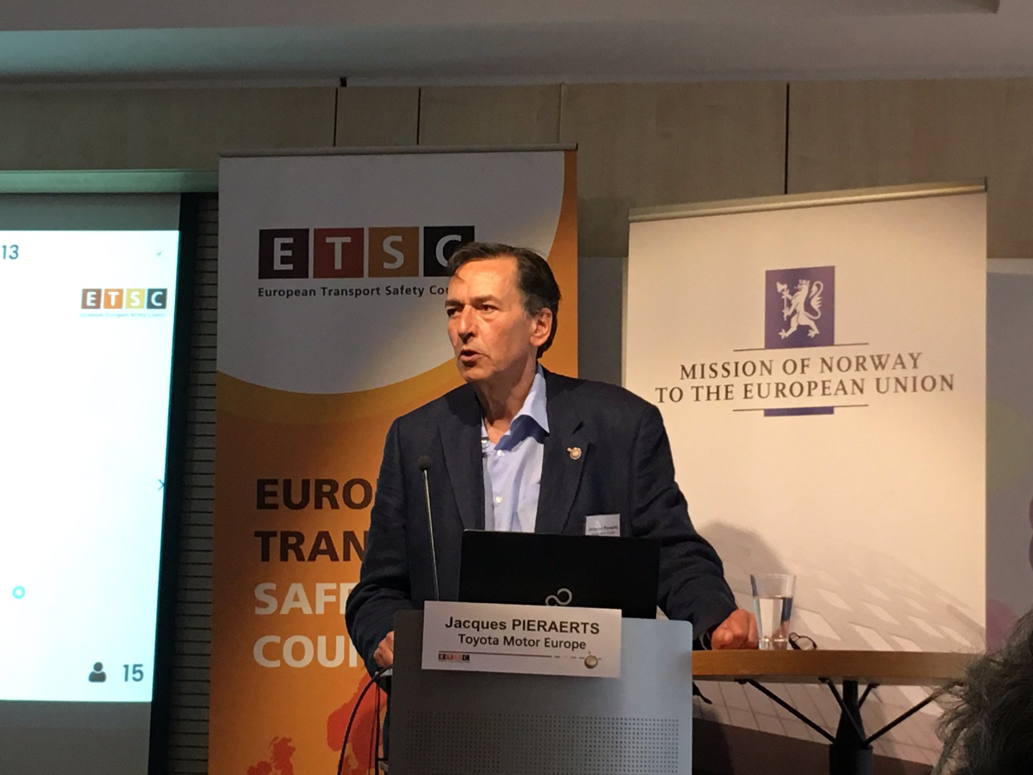 Safety cannot only be for the rich - Jacques Pieraerts Toyota Motor Europe @ETSC_EU PIN Conference #nozerostarcars #roadsafety https://t.co/01UN53SRPU