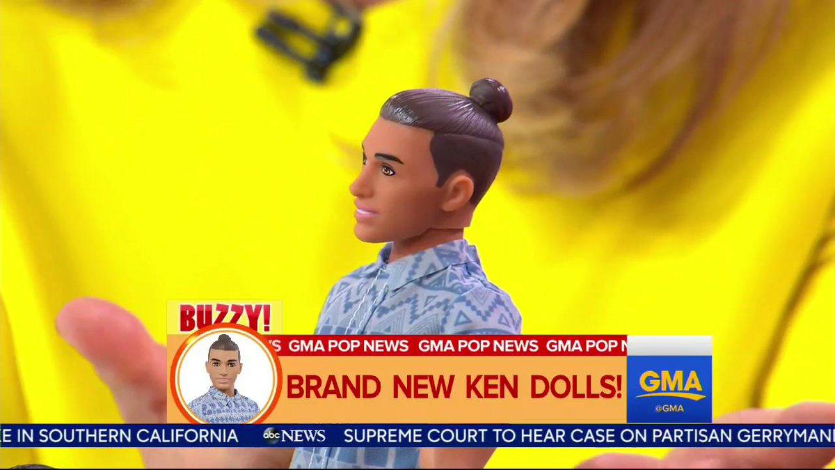 Good Morning America On Twitter Man Bun Ken Doll