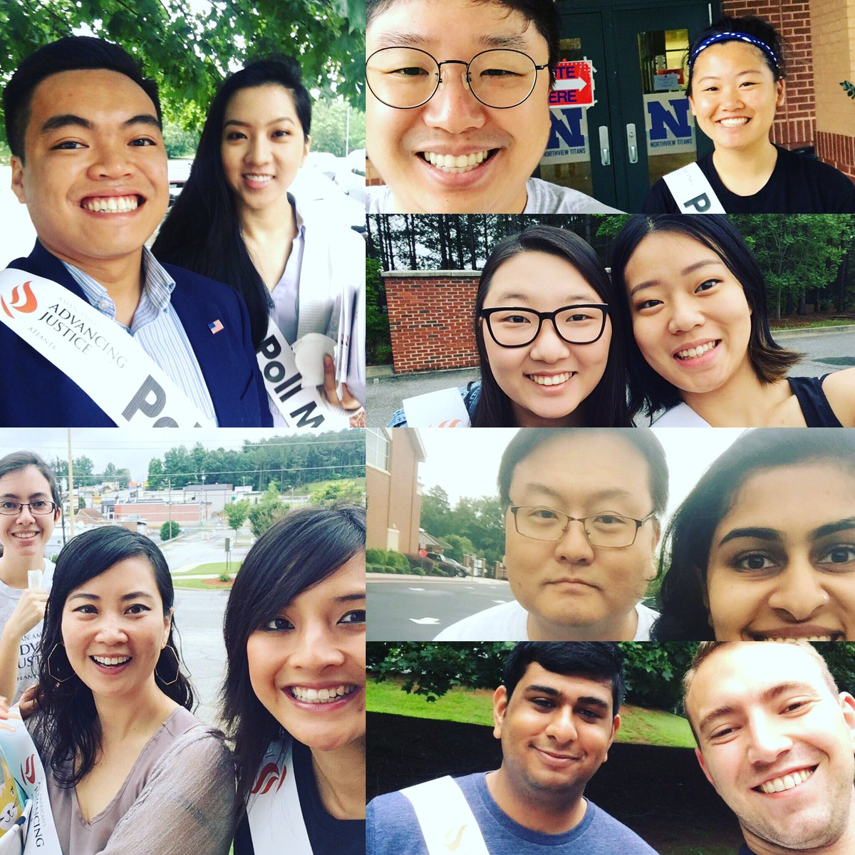 @AAAJ_Atlanta staff &amp; volunteers poll monitoring #cd6 #runoff election! #aapivoices #govote #advancingjustice<br>http://pic.twitter.com/U7apUGPZys