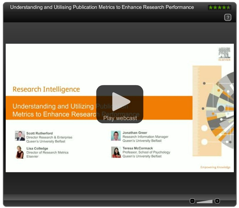 Just listened to our #researchmetrics webinar featuring Pure Lovers from Queen&#39;s University Belfast. #themoreyouknow  https://www. brighttalk.com/mybrighttalk/c hannel/13819/webcast/262641 &nbsp; … <br>http://pic.twitter.com/YgPrImkowa