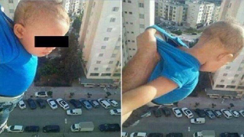 Algérie : Un homme écope de 2 ans de prison pour avoir maintenu son fils dans le vide, pour obtenir 1000 likes Facebook via @AlArabiya_Eng