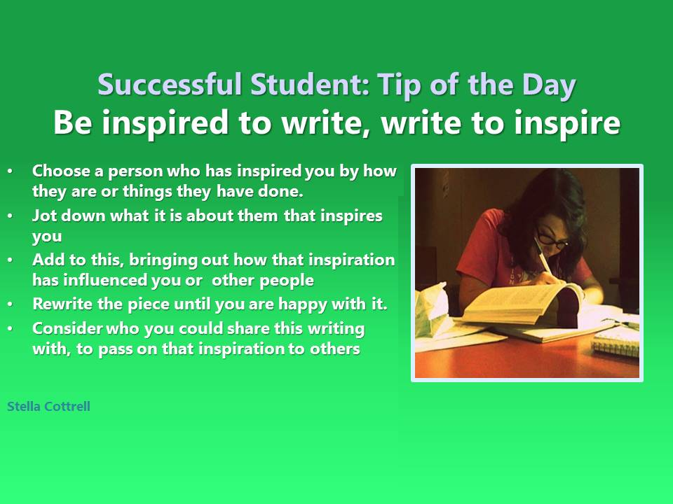 write about a person who has inspired you
