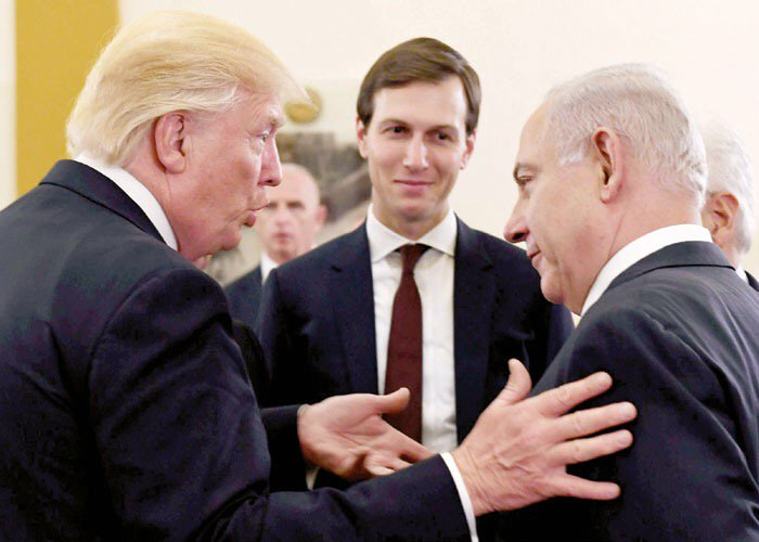 #BIBI &#39;s OLD FAMILY FRIEND&gt; #Trump's son-in-law WHO has deep business&amp;personal ties to #Israel heading to #Palestine  http://www. presstv.com/Detail/2017/06 /19/525860/Kushner-heading-to-Palestine &nbsp; … <br>http://pic.twitter.com/hkkYHRDkeF
