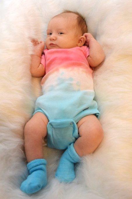 Patriotic Dip Dye Baby Onesies