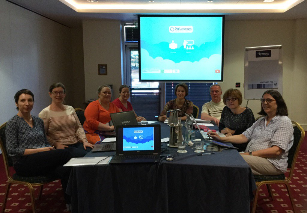 Productive plenary group workshop in Athlone. Keep an eye out for imminent digilanguages.ie site launch @ForumTL