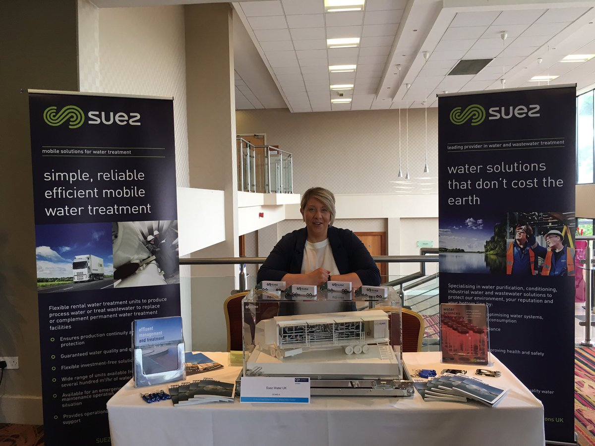 .@SUEZtreatment all smiles and ready to go at #CPIBIT17. Find our more about #watertreatment at the exhibition area!